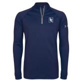 Under Armour Navy Tech 1/4 Zip Performance Shirt-LC