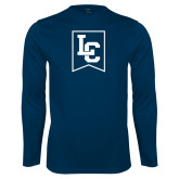 Performance Navy Longsleeve Shirt-LC