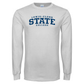 White Long Sleeve T Shirt-Lewis-Clark State College