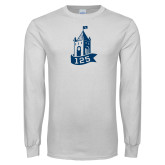White Long Sleeve T Shirt-125 Year Tower