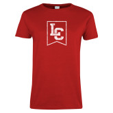 Ladies Red T Shirt-LC Distressed