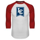 White/Red Raglan Baseball T Shirt-LC