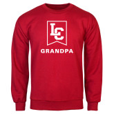 Red Fleece Crew-Grandpa