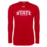 Under Armour Red Long Sleeve Tech Tee-Lewis-Clark State College