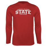 Performance Red Longsleeve Shirt-Lewis-Clark State College