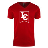 Next Level V Neck Red T Shirt-LC