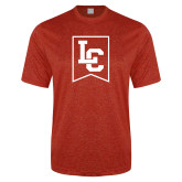 Performance Red Heather Contender Tee-LC