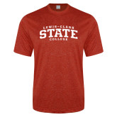 Performance Red Heather Contender Tee-Lewis-Clark State College