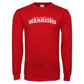 Red Long Sleeve T Shirt-Lewis Clark State Warriors