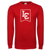 Red Long Sleeve T Shirt-LC Distressed
