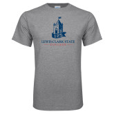 Grey T Shirt-Lewis-Clark Tower