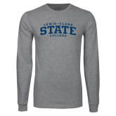 Grey Long Sleeve T Shirt-Lewis-Clark State College
