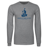 Grey Long Sleeve T Shirt-Lewis-Clark Tower