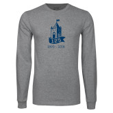 Grey Long Sleeve T Shirt-125 Year Tower