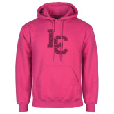 Fuchsia Fleece Hoodie-LC Hot Pink Glitter