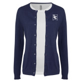 Ladies Navy Cardigan-LC