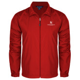 Full Zip Red Wind Jacket-Primary Mark