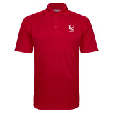 Red Textured Saddle Shoulder Polo-LC