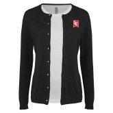 Ladies Black Cardigan-LC