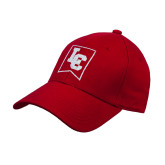 Red Heavyweight Twill Pro Style Hat-LC