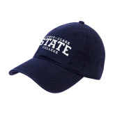 Navy Twill Unstructured Low Profile Hat-Lewis-Clark State College