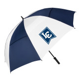 62 Inch Navy/White Vented Umbrella-LC