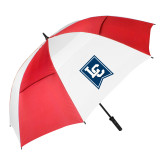 62 Inch Red/White Vented Umbrella-LC