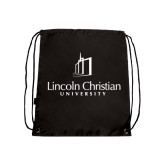 Black Drawstring Backpack-University Logo