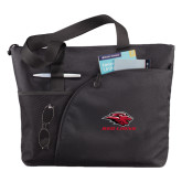 Excel Black Sport Utility Tote-Red Lions Stacked