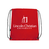 Red Drawstring Backpack-University Logo