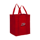 Non Woven Red Grocery Tote-Red Lions Logo