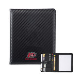 Carbon Fiber Tech Padfolio-Red Lions Logo