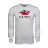White Long Sleeve T Shirt-Combination Mark