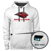Contemporary Sofspun White Hoodie-Red Lions Stacked