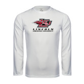 Performance White Longsleeve Shirt-Combination Mark