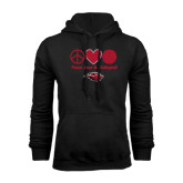 Black Fleece Hoodie-Peace Love & Volleyball