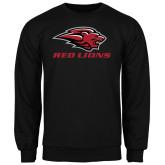 Black Fleece Crew-Red Lions Stacked