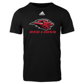 Adidas Black Logo T Shirt-Red Lions Stacked