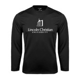 Performance Black Longsleeve Shirt-University Logo