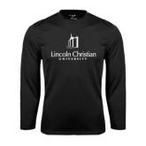 Syntrel Performance Black Longsleeve Shirt-University Logo