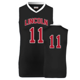 Replica Black Adult Basketball Jersey-#11
