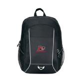 Atlas Black Computer Backpack-Red Lions Logo