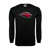 Black Long Sleeve TShirt-Lion Head