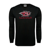 Black Long Sleeve TShirt-Combination Mark Distressed