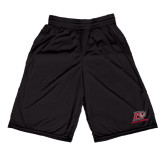 Performance Black 9 Inch Short w/Pockets-Red Lions Logo