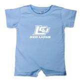 Light Blue Infant Romper-Red Lions Logo
