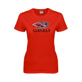 Ladies Red T Shirt-Combination Mark