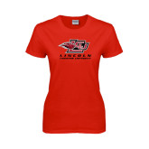 Ladies Red T Shirt-Combination Mark Distressed