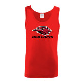 Red Tank Top-Red Lions Stacked