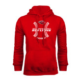 Red Fleece Hoodie-Red Lions Baseball w/ Seams